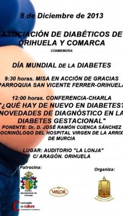 Cartel Diabetes vega baja - Dia Mundial