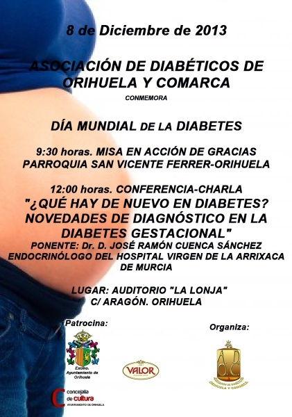Cartel Diabetes vega baja - Dia Mundial